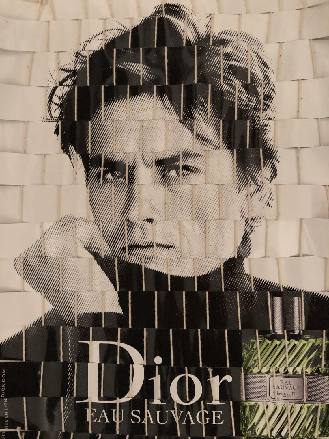 Tissage publicité parfum Dior